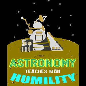 Astronomie Astronaut Teleskop Sterne Rakete Planet