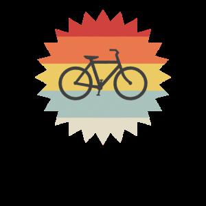 Fahrrad Vintage Logo Retro Sonne