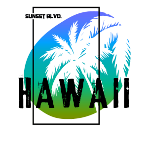 Hawaii Sunset Blvd Sommer Palmen