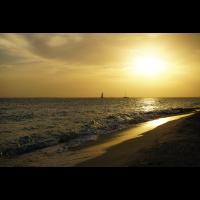 Romantischer Sonnenuntergang in der Karibik