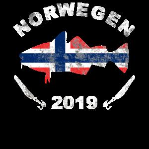 Norwegen 2019 Dorsch Angler Shirt