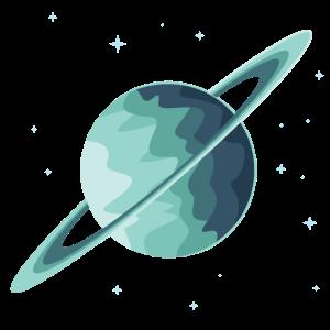 Planet Weltraum Saturn Geschenk