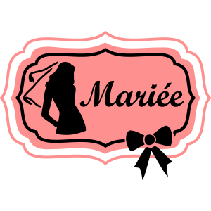 mariée silhouette retro frame