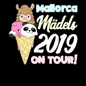 Mädels on Tour Geschenk Mallorca 2019 Panda Lama