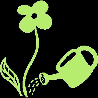 Blumen gießen - line - Blumen gießen - Garten gießen - gießen,bio,Wasser,Umwelt,Pflanze,Natur,Leben,Gießkanne,Garten,Blumen