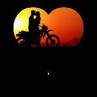 Biker Motorradfahrer Paar Beziehung Herz Geschenk