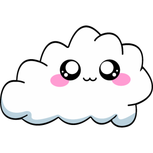 Kawaii Wolke Cloud Manga Anime Geschenk