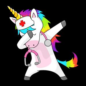 Dabbing Nurse Unicorn