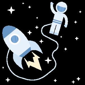 Astronaut Weltraum Rakete Kinder Geschenk
