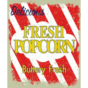 Fresh Popcorn Buttery Fresh Delicious