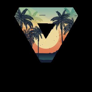 Geometrisches Dreieck Sonnenuntergang Sommer