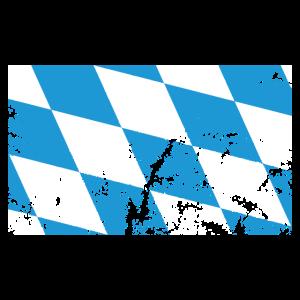 Bayern Flagge Zerkratzt