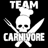 Team Carnivore distressed   BBQ Skull