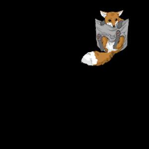 Fuchs in Brusttasche