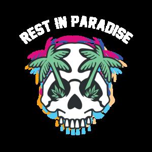 Rest in Paradise Skull Totenkopf