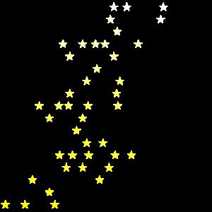 Sterne weiß gelb Geschenkidee Geschenk Idee