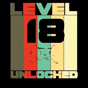 Level 18 freigeschaltet Unlocked Shirt