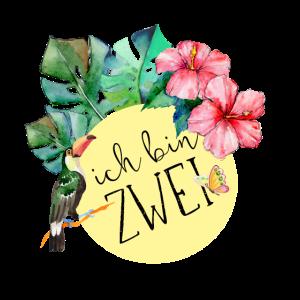 2. Geburtstag, zweiter, zwei, Dschungel, Blumen