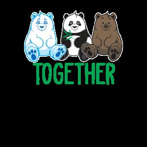 Eisbär - Panda - Grillzy - Zusammen