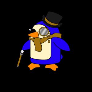Niedlicher vornehmer gegerbter lederner Brown-Pinguin