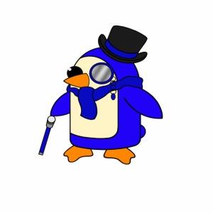 Cute Posh Ultramarine Blue Penguin