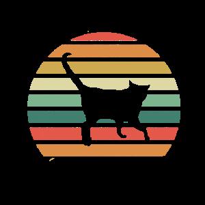 Katze Miau Kätzchen Haustier Retro Geschenk