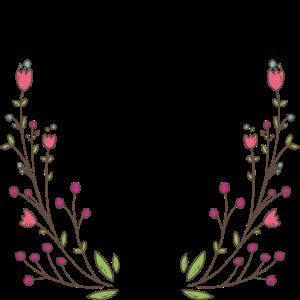 We´re all mad here - Blumenranken