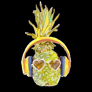 Pineapple Ananas lustig Sonnenbrille Sommer