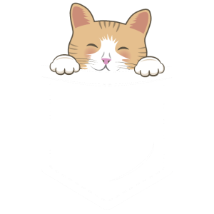 Katze Brusttasche Cat Rot Hemdtasche Geschenk