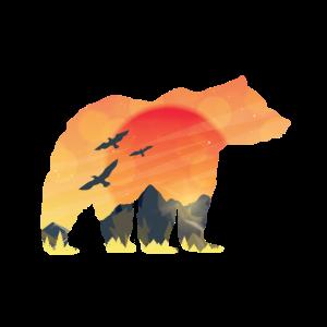Bergbär Sonnenuntergang