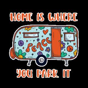 Zuhause ist, wo Sie es parken - Süße Hippie-Trailer