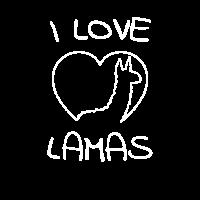 I Love Lamas Herz Liebe