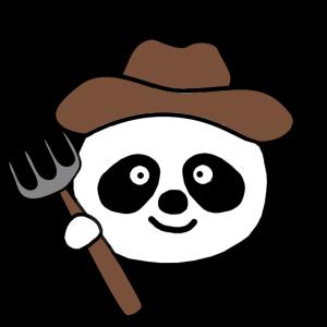 Panda Bauer Landwirdschaft Geschenk Landwirt