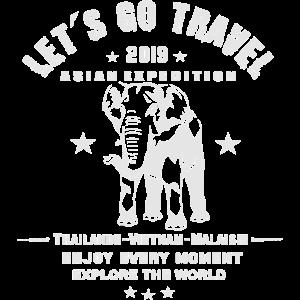 lass uns reisen gehen - asiatische expedition