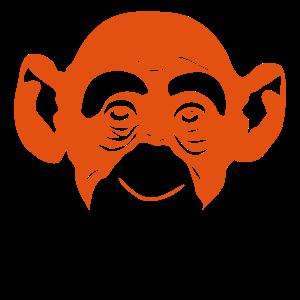 Gorilla Affenkopf 3
