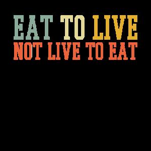 Essen zu lebenden Sprüchen