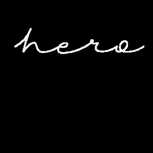 hero Schriftzug Schreibschrift Handschrift