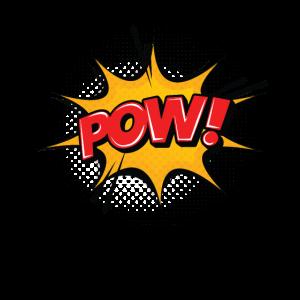 POW Comic Comicstyle Cartoon Sprechblase Nerd