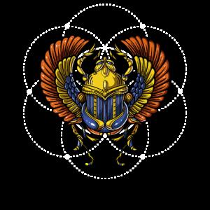 Ägyptisches Scarabäus--Symbol-heilige Geometrie