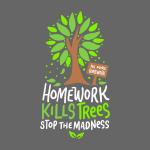 Hausaufgaben töten Bäume