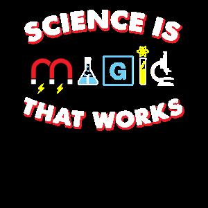 Wissenschaft ist Magie, die Geschenk arbeitet