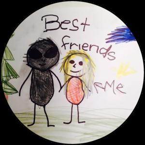 BEST FRIENDS CREEPY KIDS DRAWING SHIRT