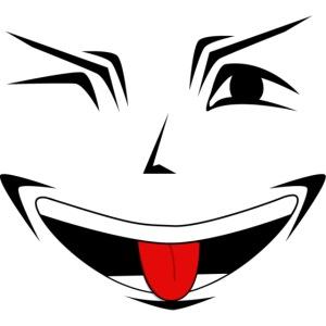 Visage souriant