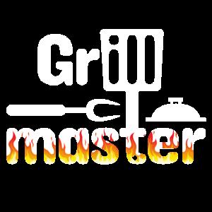 Heißer Grillmaster on Fire Barbecue Lustiger Koch