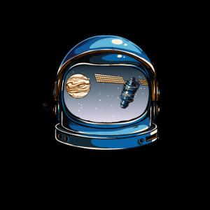 Astronaut Helm Weltall Satellit Planet