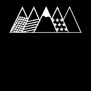 Berge Bergkette Bergspitzen Muster