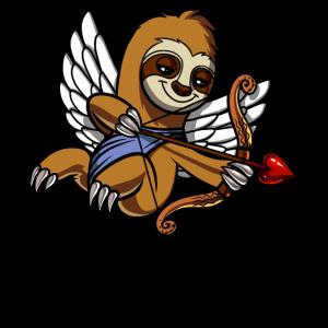 Süße Faultier Cupid