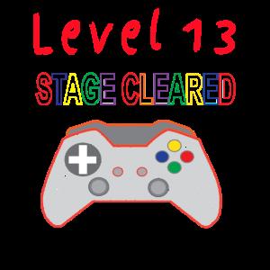 Level 13 Gamer Konsole Geburtstag Spieler Geschenk