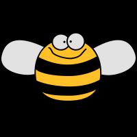 Lustige Süße Kinder Biene / Hummel