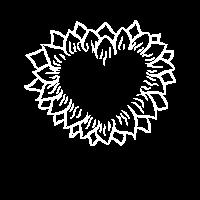 Sonnenblumen Herz Boho